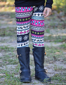 Aztec Holiday Leggings CLEARANCE