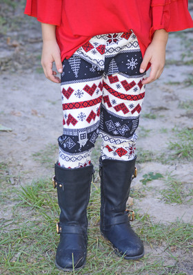 Girls Holiday Love Legging CLEARANCE