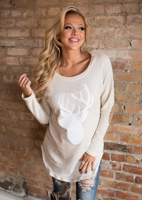 Mommy Cupid's Favorite Sweater Oat CLEARANCE