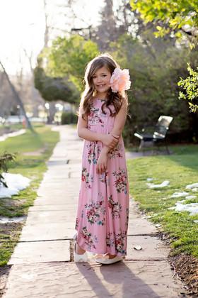 Girls Feelin' Floral Maxi Dress Mauve