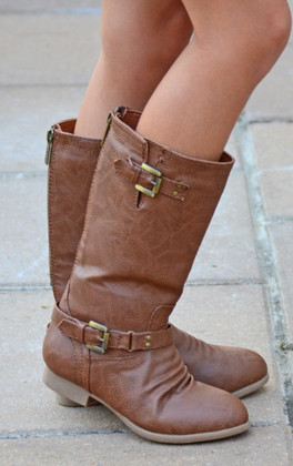 Girls Outlaw Boots - Tan