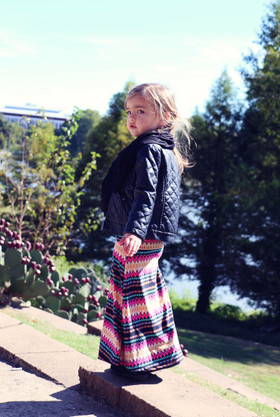 Girls Autumn Carnival Maxi Skirt CLEARANCE