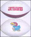 Kansas Jayhawks Full Size Signature Embroidered Series Football