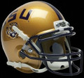 LSU Tigers Alternate Gold Mini Authentic Schutt Helmet