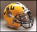 LSU Tigers Mini Authentic Schutt Helmet