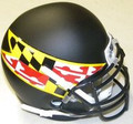 Maryland Terrapins Black Mini Authentic Schutt Helmet
