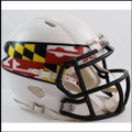 Maryland Terrapins NCAA Mini Speed Football Helmet Flag White