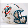 Miami Dolphins 1997-2012 Throwback Mini Speed Football Helmet