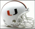 Miami Huricanes Mini Replica Helmet