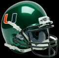 Miami Hurricanes Green Mini Authentic Schutt Helmet