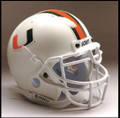 Miami Hurricanes Mini Authentic Schutt Helmet