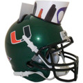 Miami Hurricanes Mini Football Helmet Desk Caddy Green