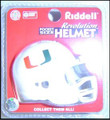 Miami Hurricanes NCAA Pocket Pro Single Football Helmet