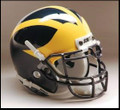 Michigan Wolverines Mini Authentic Schutt Helmet
