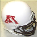 Minnesota Golden Gopher Mini Authentic Helmet Schutt White