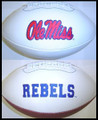 Mississippi Ole Miss Rebels Full Size Signature Embroidered Football