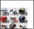 Mountain West Conference 9pc Mini Replica Speed Helmet Set