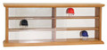 MLB Baseball Riddell Pocket Pro Empty Natural Wood Display Case