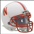 Nebraska Cornhuskers Mini Authentic Schutt Helmet