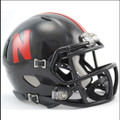 Nebraska Cornhuskers Black Mini Speed Helmet