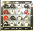 AFC Conference 16pc Pocket Pro Set Football Helmets