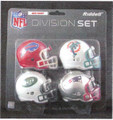 AFC East Division (4pc) Revolution Style Pocket Pro NFL Helmet Set
