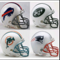 AFC East Riddell NFL Mini Replica Helmet Set