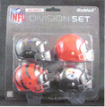 AFC North Division (4pc) Revolution Style Pocket Pro NFL Helmet Set