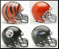 AFC North Riddell NFL Mini Replica Helmet Set