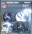 AFC South Division (4pc) Revolution Style Pocket Pro NFL Helmet Set