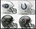 AFC South Riddell NFL Mini Replica Helmet Set
