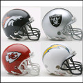 AFC West Riddell NFL Mini Replica Helmet Set