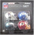 NFC East Division (4pc) Revolution Style Pocket Pro NFL Helmet Set