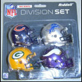 NFC North Division (4pc) Revolution Style Pocket Pro NFL Helmet Set