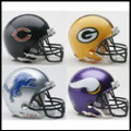NFC North Riddell NFL Mini Replica Helmet Set