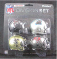 NFC South Division (4pc) Revolution Style Pocket Pro NFL Helmet Set