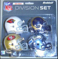 NFC West Division (4pc) Revolution Style Pocket Pro NFL Helmet Set