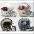 NFC West Riddell NFL Mini Replica Helmet Set