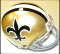 NFL New Orleans Saints Mini Replica Throwback Helmet 67-75