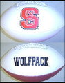 North Carolina State Wolf Pack Full Size Signature Embroidered Footbal