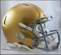Notre Dame on plate Riddell NCAA Mini Speed Football Helmet