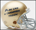 Notre Dame Play Like A Champion Mini Replica Helmet