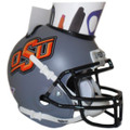Oklahoma State Cowboys Mini Football Helmet Desk Caddy GREY