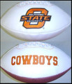 Oklahoma State OSU Cowboys Full Size Signature Embroidered Football