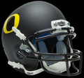 Oregon Ducks Matte Black Mini Authentic Helmet Schutt