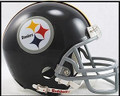 Pittsburgh Steelers 1963-76 Throwback Mini Replica Helmet W/Z2B Mask