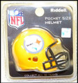 Pittsburgh Steelers Gold NFL Pocket Pro Single Football Helmet