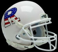 Rutgers Scarlett Knights White and Flag Mini Authentic Schutt Helmet