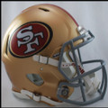 San Francisco 49er's Authentic Revolution Speed Football Helmet
