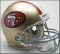 San Francisco 49ers 1964-95 Throwback Full Size Authentic Helmet